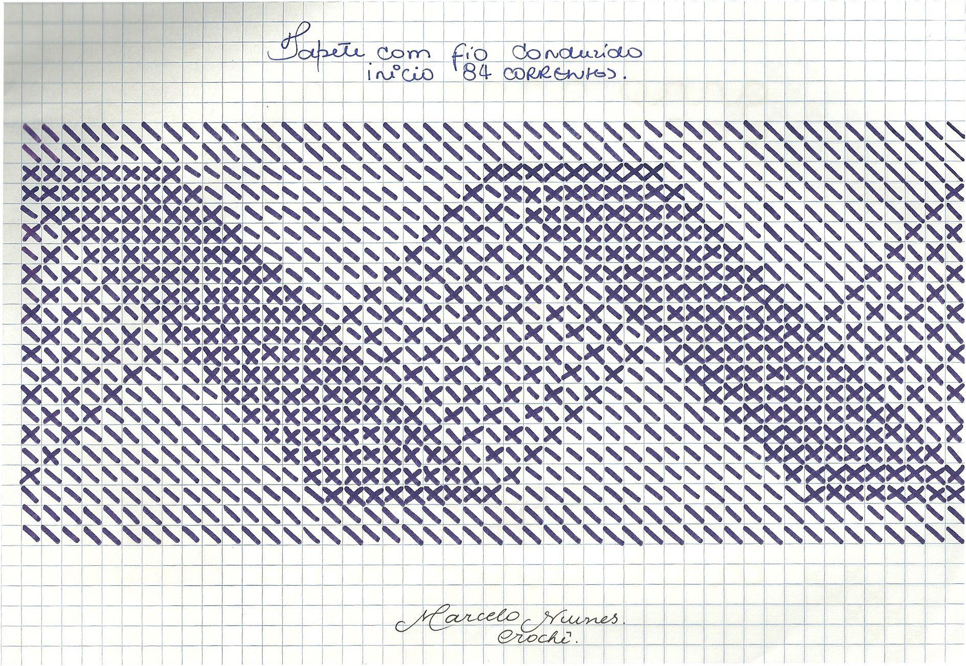 Modelo Tapete Croche Foto Reproduo Tapete Guar Modelo Russo